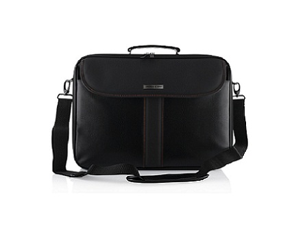 """Modecom brašna CORDOBA na notebooky do velikosti 15,6"""", kovové přezky, černá"""