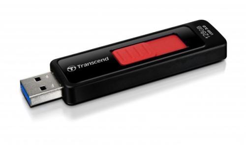 TRANSCEND USB Flash Disk JetFlash®760, 128GB, USB 3.0, Black/Red (R/W 85/34 MB/s)
