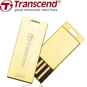TRANSCEND USB Flash Disk JetFlash®T3G, 32GB, USB 2.0, Golden (odolný vůči prachu, vodě i nárazu) (R/W 19/7 MB/s)