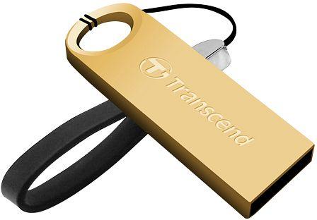 Transcend 16GB JetFlash 520G, USB 2.0 flash disk, malé rozměry, zlatě obarvený kov