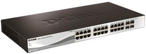 D-Link DGS-1210-28 24x 10/100/1000 Base-T port with 4 x 1000Base-T /SFP ports