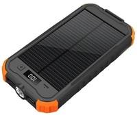Solární outdoorová power bank CHARLIE II 12000mAh, černo-oranžová