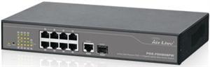 AirLive 8*10/100 switch+1*1000Base-T+1*SFP fiber, 8-POE 24V Passive WEB