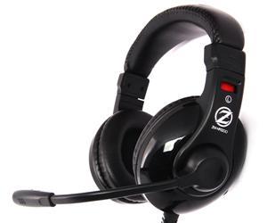 Zalman herní sluchátka s mikrofonem ZM-HPS200 40mm driver, plochý kabel, 3,5mm jack
