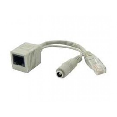Mikrotik RBPOE FastEth PoE adapter with shielded connectors, supports 9-48V PoE