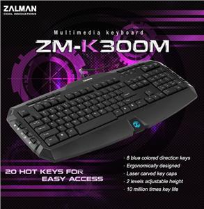 Zalman multimediální klávesnice ZM-K300M