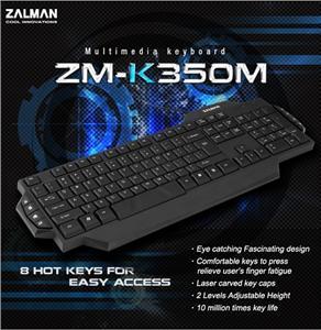 Zalman multimediální klávesnice ZM-K350M