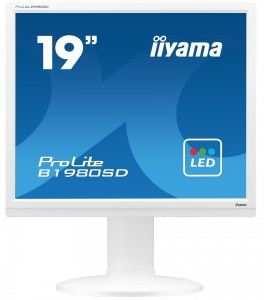 "19"" LCD iiyama Prolite B1980SD-W1 - 5ms,250cd/m2,1000:1,5:4,VGA,DVI,repro,pivot,výšk.nastav.,bílý"