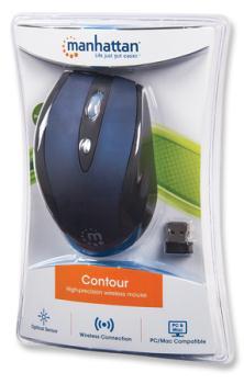 Manhattan Contour wireless mouse MLDX II, 2000 dpi