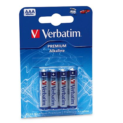 VERBATIM alkalické mikrotužkové baterie R03, AAA, 1,5V, 4ks