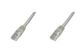Digitus Patch Cable, UTP, CAT 5e, AWG 26/7, šedý 20m, 5ks