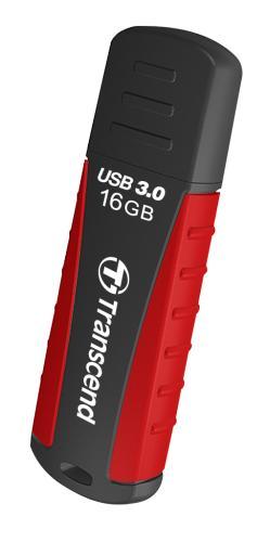 Transcend 16GB JetFlash 810, USB 3.0 flash disk, červeno-černý, odolá nárazu, tlaku, prachu i vodě
