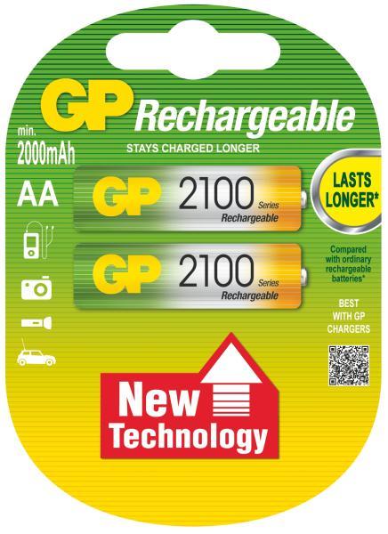 Nabíjecí baterie GP AA 2100 NiMH 2ks