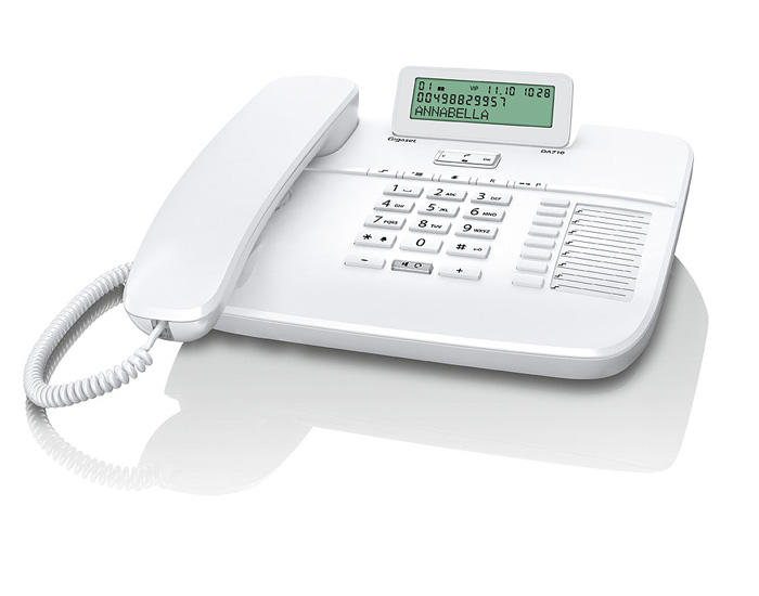 SIEMENS Gigaset DA710 - standardní telefon s displejem, barva bílá