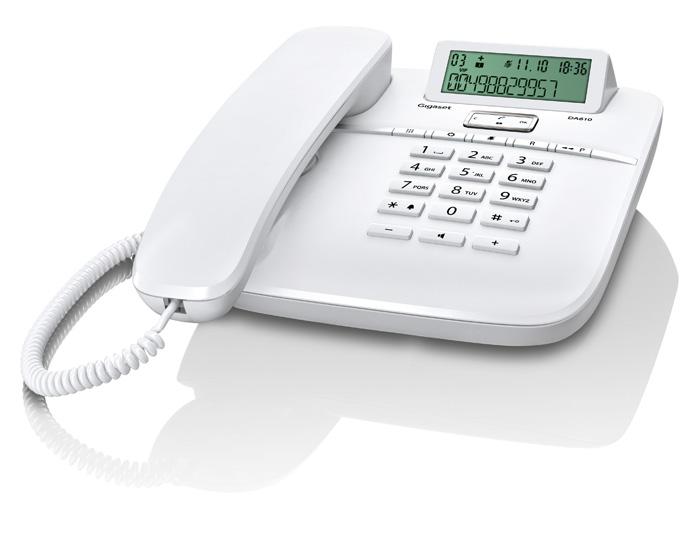 SIEMENS Gigaset DA610 - standardní telefon s displejem, barva bílá