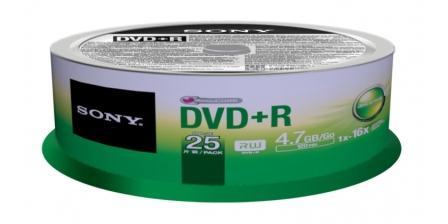 SONY DVD+R 4,7GB, 16x, cake box, 25 ks