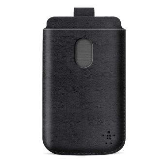 Belkin zasouvací pouzdro pro HTC One, PU kůže, černé