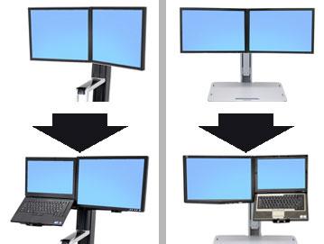 ERGOTRON WORKFIT CONVERT-TO-LCD & LAPTOP KIT FROM DUAL DISPLAYS, měnič uchycení