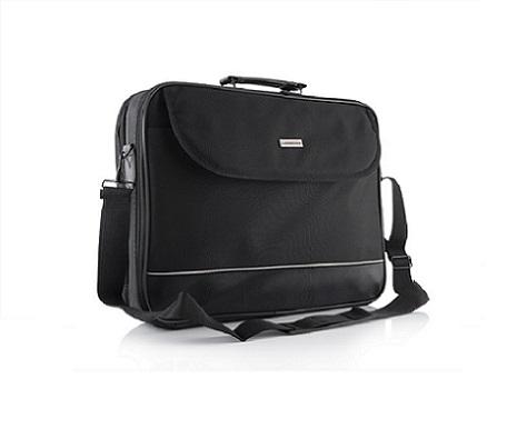 """Modecom brašna MARK 2 na notebooky do velikosti 17"""", černá, 2 komory, kovové přezky"""