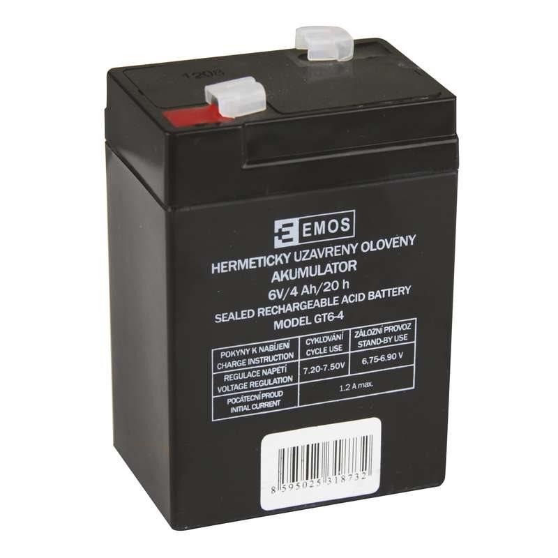 Emos baterie SLA 6V / 4 Ah, Faston 4.8 (187), VRLA
