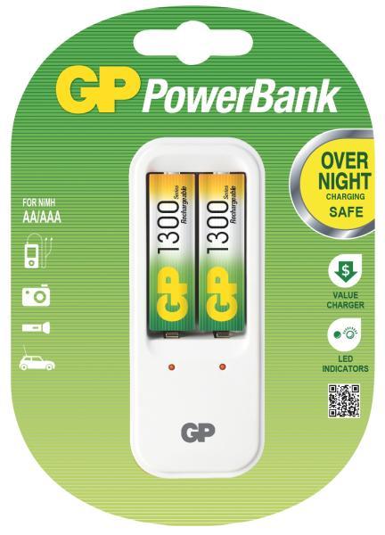 Nabíječka baterií GP 410+2xAA GP1300NiMH