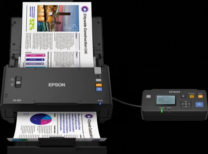 EPSON skener WorkForce DS-520N, A4, USB/Ethernet, 600dpi, ADF