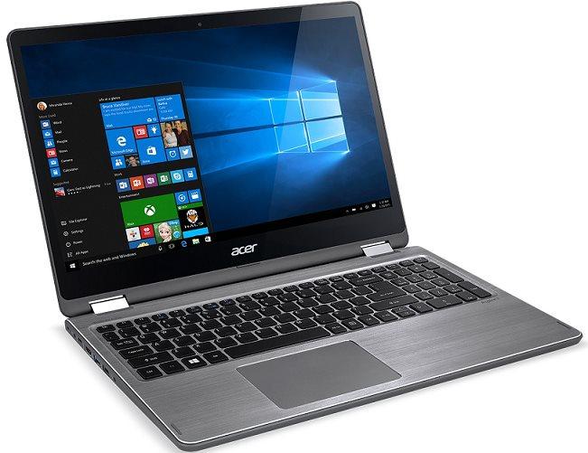 "Acer Aspire R15 (R5-571TG-55RU) i5-7200U/4GB+4GB/256GB SSD M.2+N/GeForce 940MX 2G/15.6""FHD IPS Multi-Touch/BT/W10 Home/Gray"