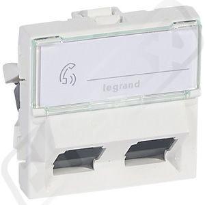Zásuvka MOSAIC 2XRJ45 UTP C6 2M BI