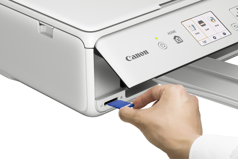 Zlevněné zboží: Canon PIXMA TS5051 - PSC/Wi-Fi/AP/WiFi-Direct/PictBridge/4800x1200/USB white