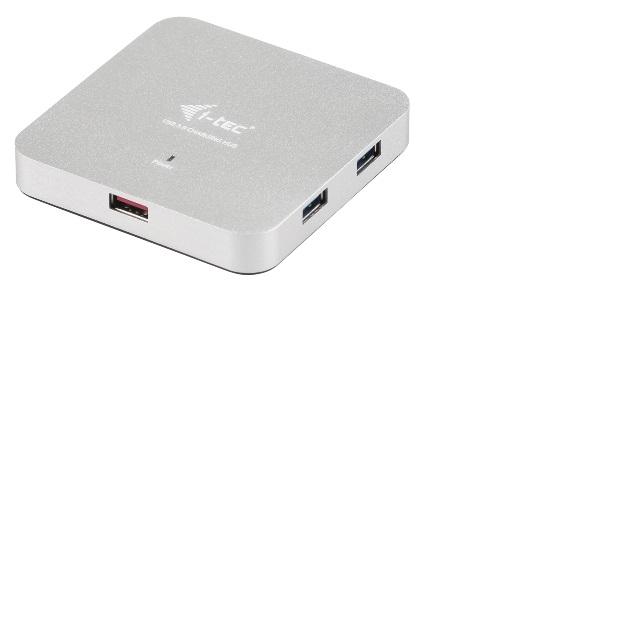 i-tec USB 3.0 Metal Charging HUB 4+1 Port with power adapter, 4x USB 3.0 port