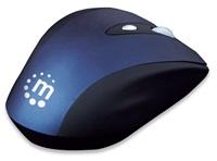 MANHATTAN Myš Contour, USB optická, bezdrátová, 6-tlačítková, modro-černá