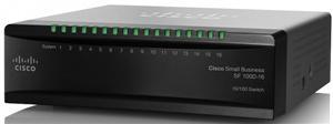 Cisco switch SF100D-16, 16-Port 10/100, desktop, kov