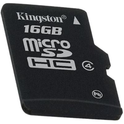 KINGSTON 16GB micro SDHC single pack - bez adaptéru Class 4