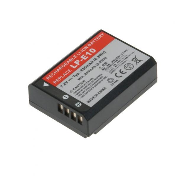 Náhradní baterie AVACOM Canon LP-E10 Li-ion 7.4V 850mAh 6.3Wh