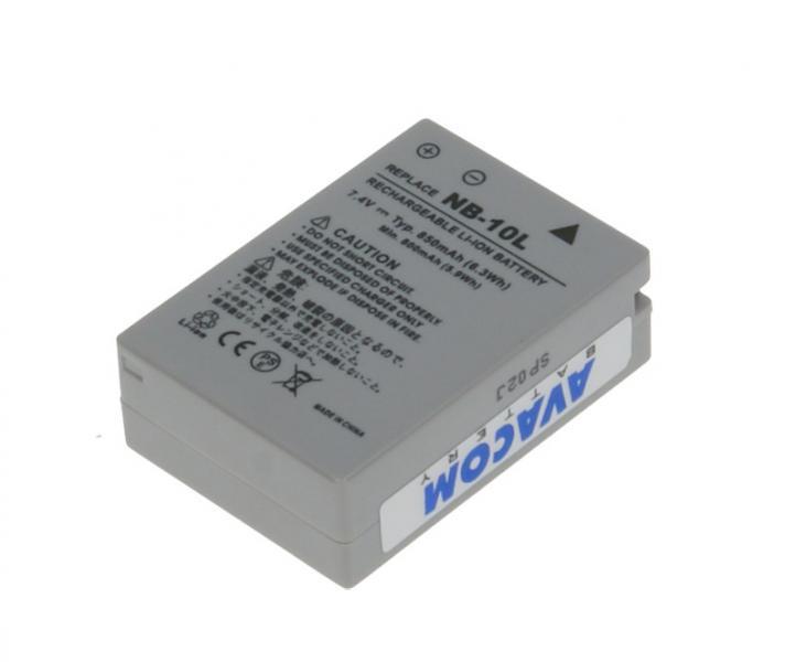 Náhradní baterie AVACOM Canon NB-10L Li-ion 7.4V 850mAh 6.3Wh verze 2011
