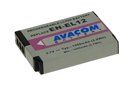 Náhradní baterie AVACOM Nikon EN-EL12 Li-ion 3.7V 1050mAh 3.9Wh verze 2011
