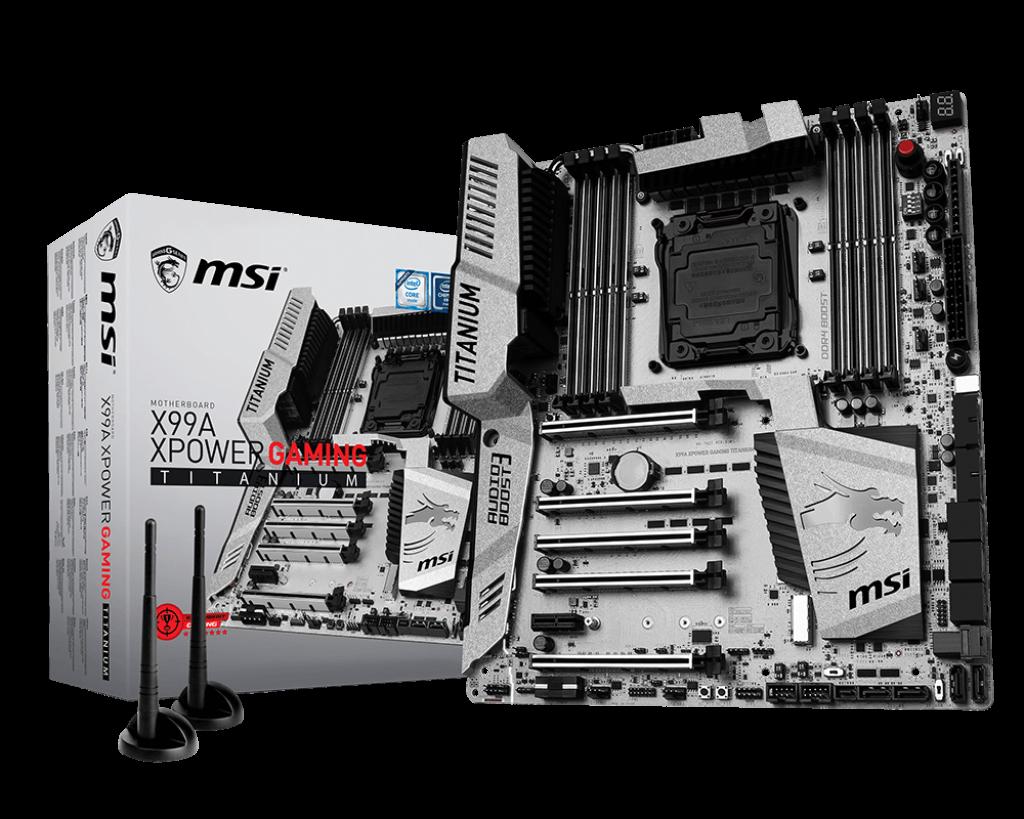 MSI X99A XPOWER GAMING TITANIUM, X99, QuadDDR4-2133, SATA3, SATAe, M.2, E-ATX