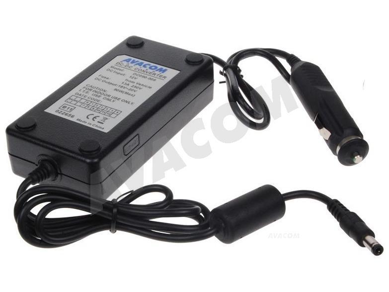 AVACOM nabíjecí autoadaptér pro notebook 18V-20V 90W konektor 5,5mm x 2,5mm