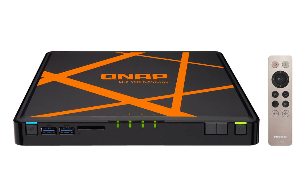 QNAP TBS-453A-4G (2.08GHz, 4GB RAM, 2x HDMI, 2x LAN+3x LAN switch, 4x M.2 SSD) NASbook