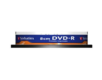 VERBATIM DVD-R(10-pack)/8cm/Printable/Spindle/4x/1.4GB