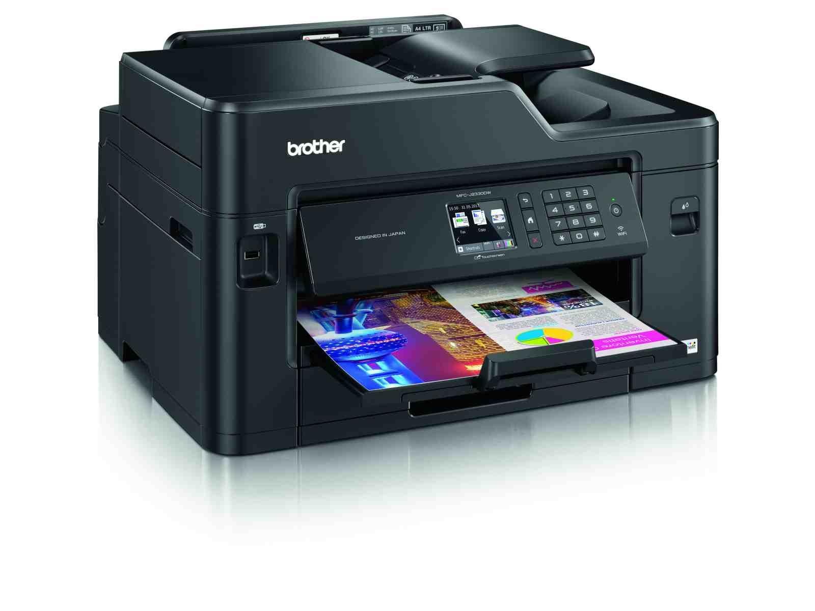 Brother MFC-J2330DW, tiskárna A3/kopírka/skener A4/fax, tisk na šířku, duplexní tisk, síť, WiFi, dotykový LCD