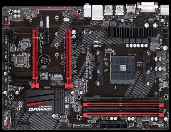 GIGABYTE MB Sc AM4 GA-AB350-Gaming, AMD B350, 4xDDR4, HDMI, DVI, ATX