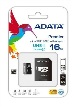 ADATA Premier micro SDHC karta 16GB UHS-I U1 Class 10 + adaptér SDHC