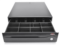 Virtuos pokladní zásuvka C420B-RJ10P10C, bez kabelu, plastové držáky bankovek, černá EKA0042