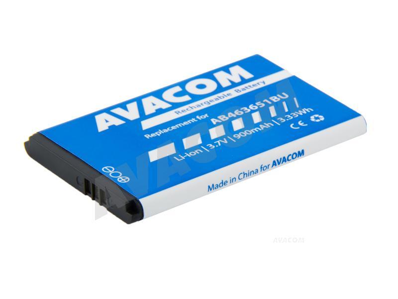 Náhradní baterie AVACOM Baterie do mobilu Samsung AB463651BU Li-Ion 3,7V 900mAh (náhrada AB463651BU)