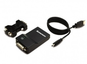Lenovo kabel redukce USB 3.0 to DVI/VGA Monitor Adapter