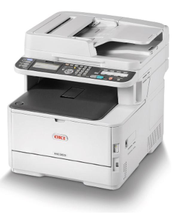 OKI MC363dn A4 30/26 ppm ProQ2400dpi, PCL/PS, RADF, 1GB RAM, USB 2.0 LAN (Print/Scan/Copy/Fax)