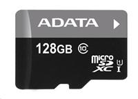 ADATA Micro SDXC karta 128GB UHS-I Class 10 + SD adaptér, Premier