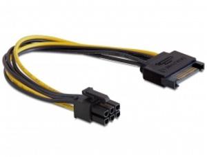Delock napájecí kabel SATA 15 pin na 6 pin PCI Express