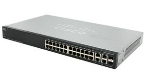 Cisco SF500-24P, 24x10/100, PoE, Stack + 4xG ports